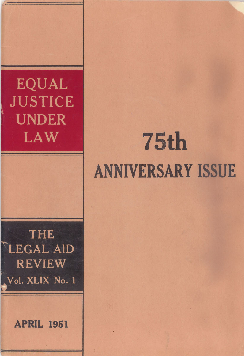 75th Anniversary Issue of the Legal Aid Review