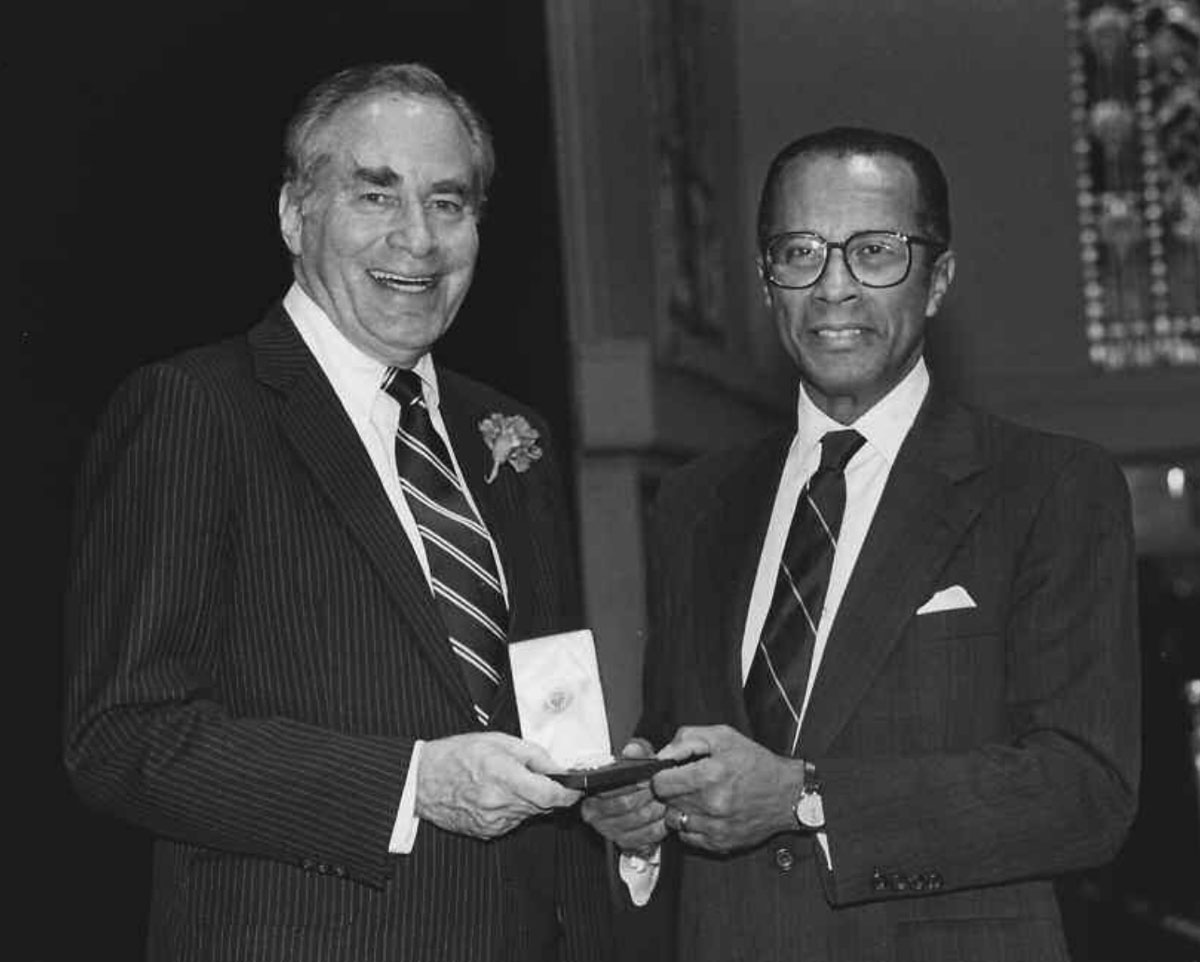 One of the many awards Arch Murray received during his long and distinguished career was the Federal Bar Council's Emory Bruckner Medal for Public Service presented in 1989 by Thomas W. Evans, President of the Bar Council at the time.