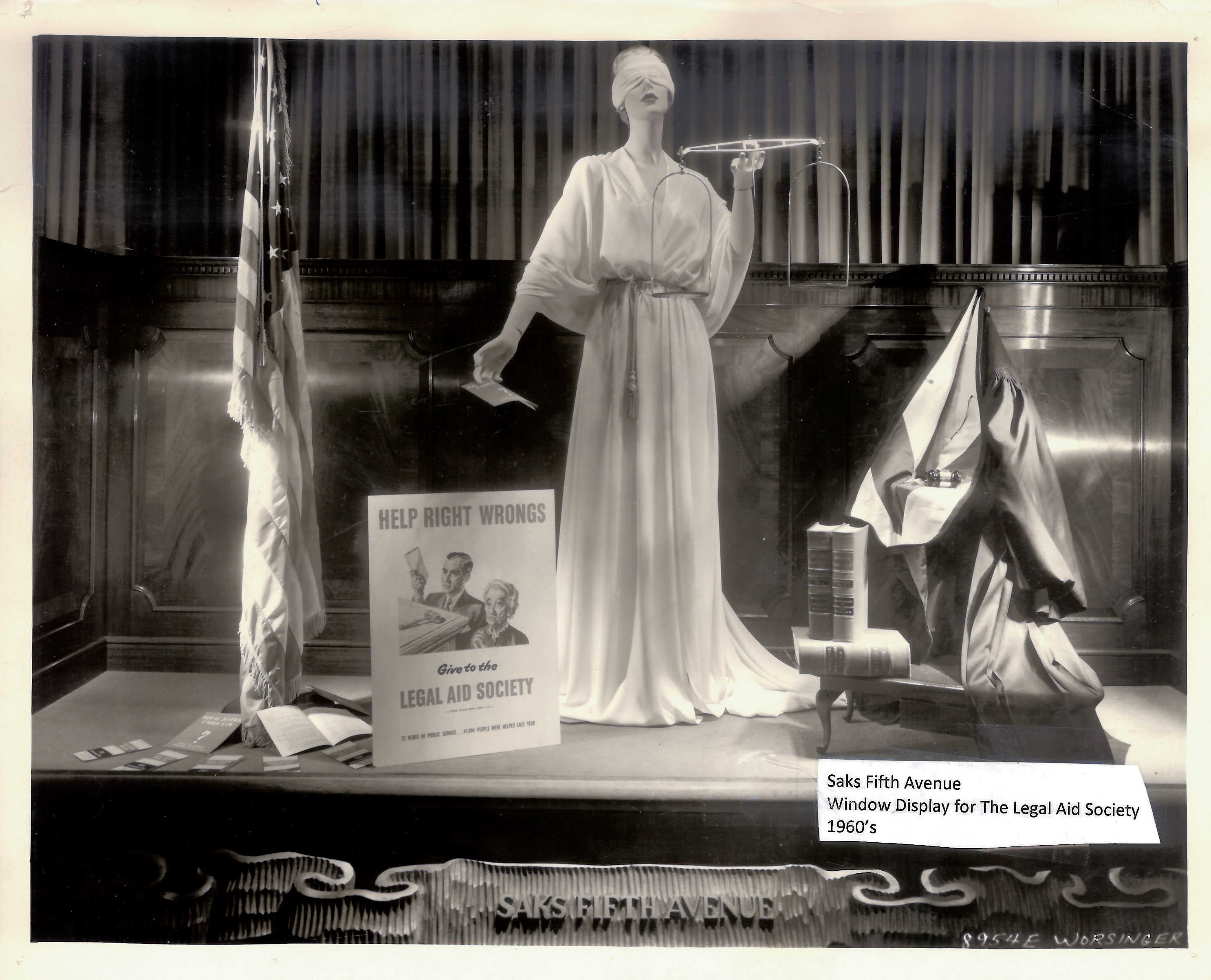 A Saks Fifth Avenue Window Display for The Legal Aid Society