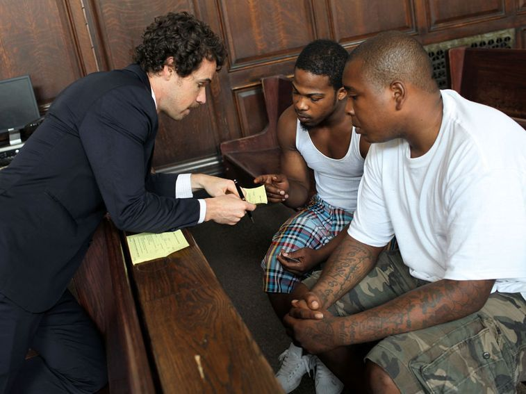 """A court appearance in the television pilot """"Criminal Defense - Brooklyn"""""""